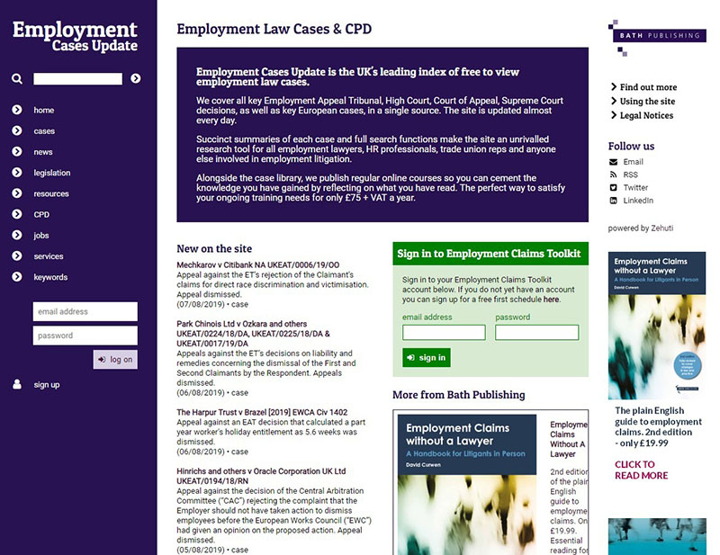 Employment Cases Update image